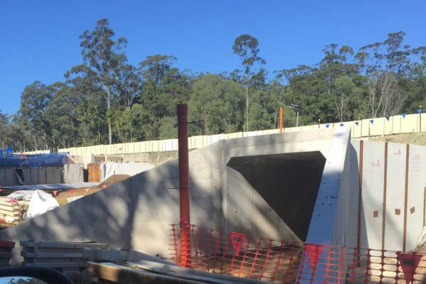 Lend Lease C2CA3  Cooroy To Curra GA14 Culvert, apron slabs Head & Wing Walls