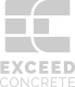 exceedconcretelogoBW